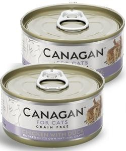 Canagan Can  CHICKEN WITH DUCK  2 x 75g  - dla kotów